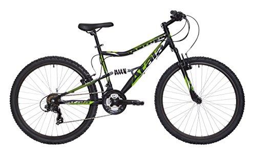 Mountain bike full biammortizzata Atala Panther, 21 velocità, verde fluo e nero, 26', taglia XS (140-155 cm)