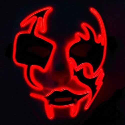 AJBB Leuchtende Maske, Weihnachten Leuchtende Maske Crazy City White Ghost Dance, Street Dance Make-Up Graffiti (Crazy Dance Kostüm)