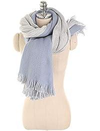 d59a1f7a5643 Nordira Foulard pour Femme, Double Couleur Pompons Automne Hiver Outdoor  Doux Chaud Longue Écharpe