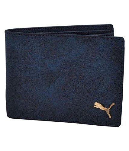 Oaks Wood PU Blue Wallet