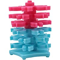 Weryffe Stickerei Bobbins Tower Lagerung Für Bobbins Sewing Tool Bobbin Town Fall Nähzubehör 30pcs (Blau+Rosenrot)