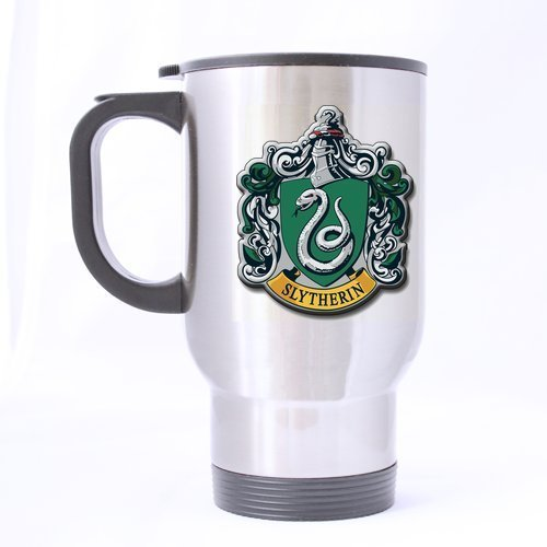 Harry Potter Cool Slytherin Customized Custom Design Silver Travel Mug Sports Bottle Coffee Mugs Office Home Cup 14 OZ Two Sides Printed by Custom Mugs