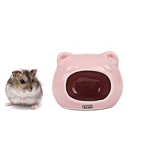 Keramik Hamster Betten Versteck Nest, Chinchilla Käfig Zubehör, Hamster Spielzeug Home und Bad für kleine Tier Sugar Glider Eichhörnchen Chinchilla Hamster Ratten Spielen Schlafen