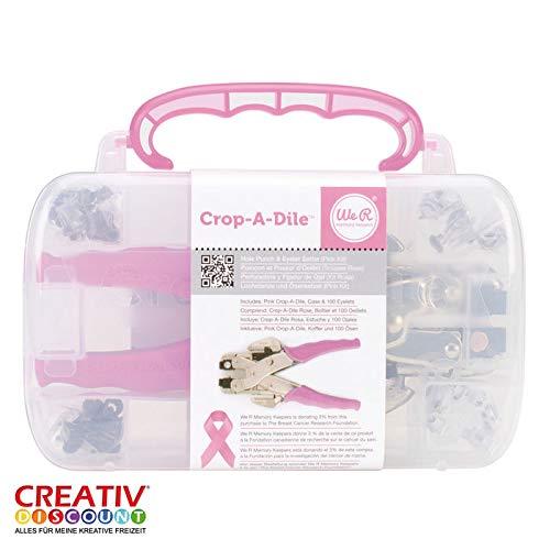 CREATIV DISCOUNT® NEU Plastik Crop-a-Dile, Eyeletsetter+ca.100Eyelet
