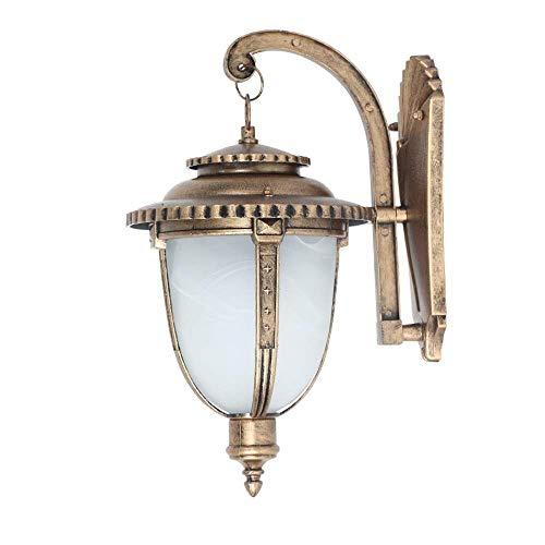 DLINMEI Rustikale Wandleuchte für den Außenbereich Bronze geätzt Glas Wandleuchte für Außenhaus Deck Patio Porch Beleuchtung (größe : L) -