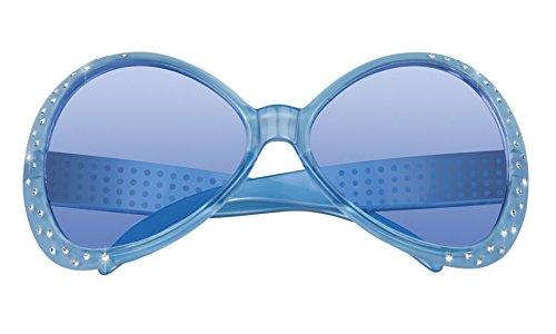 erdbeerloft - Oversize Flower Power Brille Kostüm Sonnenbrille, Türkis