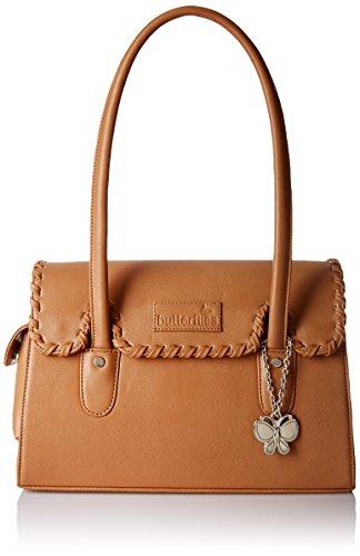 Butterflies Women\'s Handbag (Beige) (BNS 0265BG)