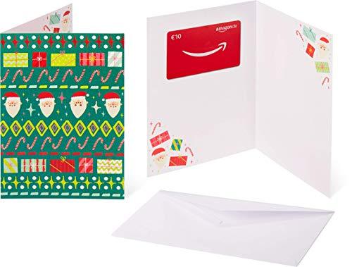 Amazon.de Geschenkkarte in Grußkarte - 10 EUR (Hässlicher Weihnachtspulli)