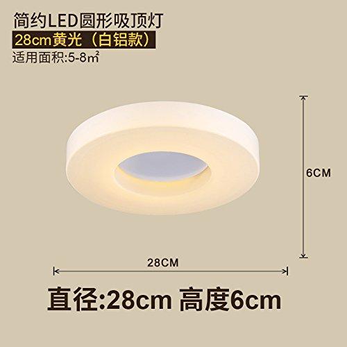 Woo Semplice Moderna Lampada A Led Camera Da Letto Caldo Creative Luce Circolare Di Legno Massello Plafoniere Per La Scala, Ingresso, Soggiorno, Corridoio, Corridoio, Balcone,B28Cm Warm Light