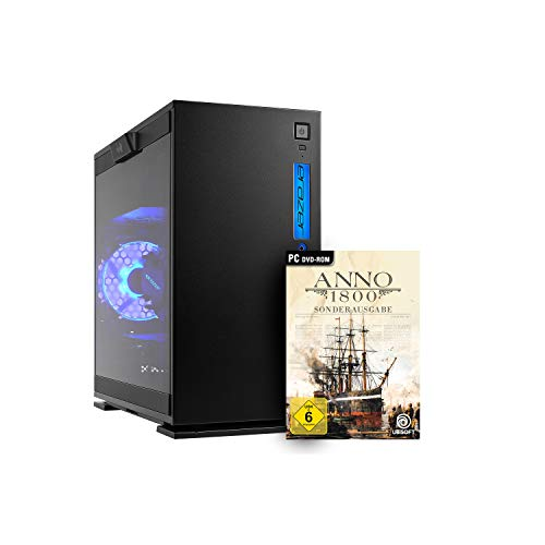 MEDION ERAZER Engineer X10 Gaming Desktop PC (Intel Core i7-9700, 16GB DDR4 RAM, 1TB PCIe SSD, NVIDIA GeForce RTX 2070 SUPER 8GB GDDR6, WLAN, Anno 1800, Win 10 Home)