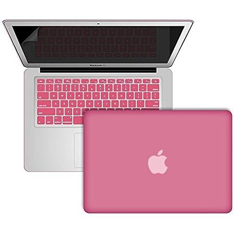 SlickBlue toque suave estuche rígido de plástico caso cubierta & Protector de pantalla para MacBook Air de 13 pulgadas (Modelos :1466 & UN1369) - Bebé