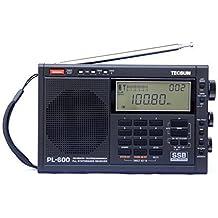 XHD® TECSUN PL-600 Digital Tuning Full-Band FM Radio Stereo MW/SW-SBB/PLL Synthesized Stereo Radio Receiver PL600 Radio ( black)