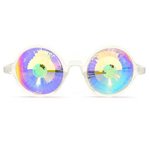 GloFX Klar Kaleidoskop glasses - rainbow Wurmloch - Rave edm Regenbogenkristall