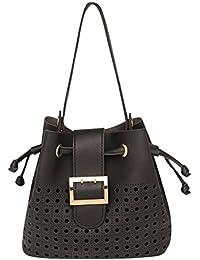 RS By Rocky Star Womens Drawstring Closure Shoulder Handbag