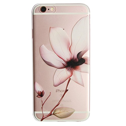 For iPhone 6 / iPhone 6s Case,iphone 6S case for girls,Never stop Exploring® Ultra Slim Soft TPU Case Cover Protective Bumper for Apple iPhone 6 / iPhone 6s 4.7 Inch Lily Painted