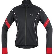 GORE BIKE WEAR Jacke Power 2.0 Soft Shell - Chaqueta de ciclismo para hombre, color negro / rojo, talla L
