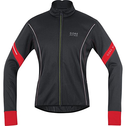 GORE BIKE WEAR Giacca Uomo Power 2.0 Soft Shell - Nero (Black/red) - M