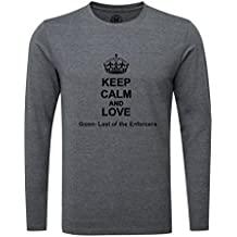 Keep Calm and Love Goon- Last of The Enforcers Luxury Slim Fit Long Sleeve Dark Grey T-Shirt