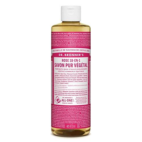 Dr Bronner organique Rose Castille savon liquide 473ml