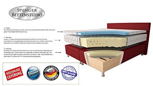 Microfaser Boxspringbett Montana Beige Bild 6*