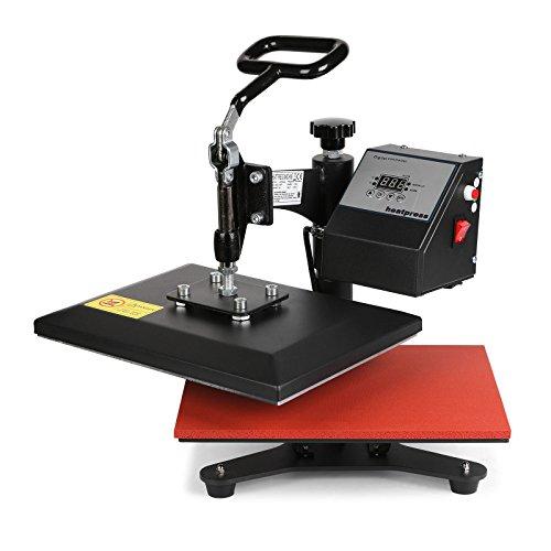 Lartuer Transferpresse Textilpresse T Shirtpresse Heat Press Machine 24X30cm mit Elektronische Zeitregelung und Temperaturüberwachung (24X30cm)