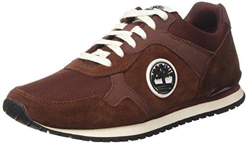Timberland Herren Retro Runner Oxford, Braun (Brandy), 43 EU (Timberland Canvas Schuhe)
