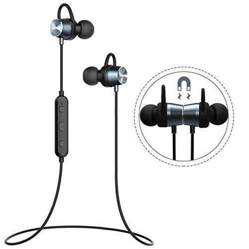 Bluetooth Kopfhörer Sport Mpow Wasserschutz In Ear Kopfhörer magnetische Bluetooth Headset 4.1 Kabellos Stereo Handy Sportkopfhörer Joggen Ohrhörer Wireless mit Mikrofon, 7 Stunden Spielzeit, Lebensdauergarantie für iPhone 7 7 plus - Bluetooth-wireless-stereo-headset