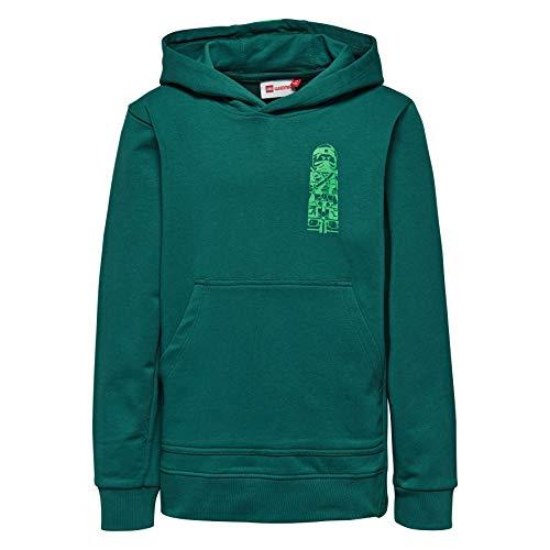 Lego Wear Jungen Sweatshirt Lego Boy Ninjago-SIAM 110-SWEATSHIRT, Grün (Dark Green 873) ()