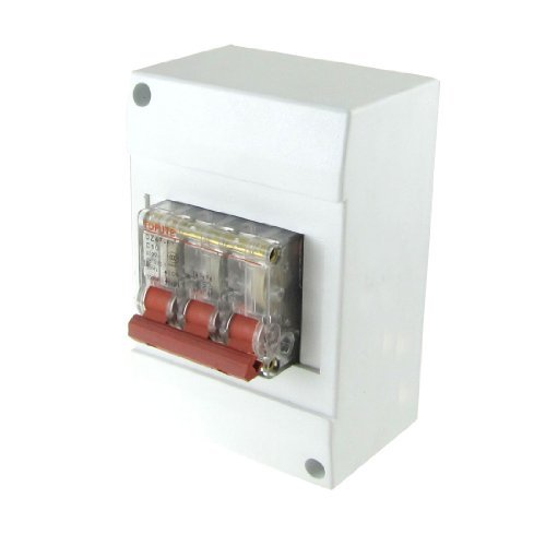 DealMux AC 400V 10 Amp 3P Transparent Mini Circuit Breaker MCB mit Gehäuse