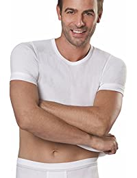 5er Spar-Pack Con-ta Herren Unterhemden 1 4 Arm Doppelripp   T-Shirts -  100% supergekämmte Baumwolle - Weiß – Kochfest und… cd36751c1b
