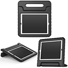 MoKo Funda para iPad 2 / 3 / 4 - Material EVA Lightweight Kids Shock Proof Protector Cover Case con Manija para Apple iPad 2 / 3 / 4 9.7 Pulgadas Tableta, Negro