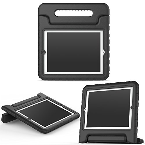 MoKo Hülle für iPad 2 / 3 / 4 - Superleicht EVA Kids Shock Proof Cover Stoßfest Kindgerechte Schutzhülle für Apple iPad 2 / 3 / 4 9.7 Zoll Tablet-PC, Schwarz Ipad 2 3 4 Schaum Fall