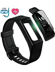 4UMOR Fitness Armband Wasserdicht IP68 GPS Fitness Tracker Schrittzähler Uhr Fitnesstracker mit Wecker Activity Tracker Fitnessuhr Schlafmonitor Kalorienzähler Smartwatch für Kinder Damen und Herren