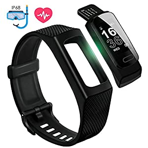 41Bn Ea37XL. SS300  - 4UMOR Fitness Tracker, Activity Tracker Smart Watch Heart Rate Monitor, Sleep Monitor, Step Counter, Calorie Counter, IP68 Waterproof Slim Pedometer Smart Wristband for Men, Women, Kids
