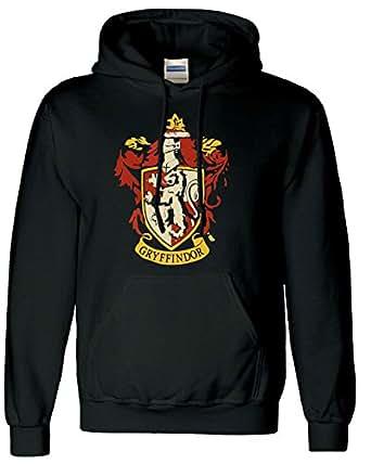 18f1e895b93a Gryffondor Unisexe Sweat à Capuche Crest Logo Poudlard – Harry Potter -  Noir - 44