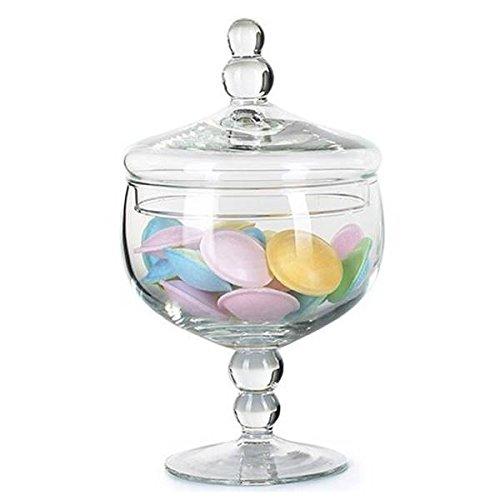 Bonboniere Glasdose Vorratsglas MARION auf Fuß D. 12,5cm H. 21cm la vida