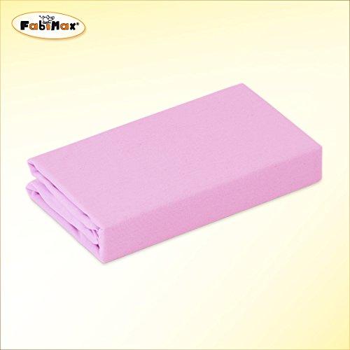 FabiMax 2684 Jersey Spannbettlaken für Stubenwagen und Bollerwagen, 50 x 90 cm, rosa
