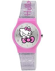 Hello Kitty Kinder-Armbanduhr Analog Kunststoff silber HK012
