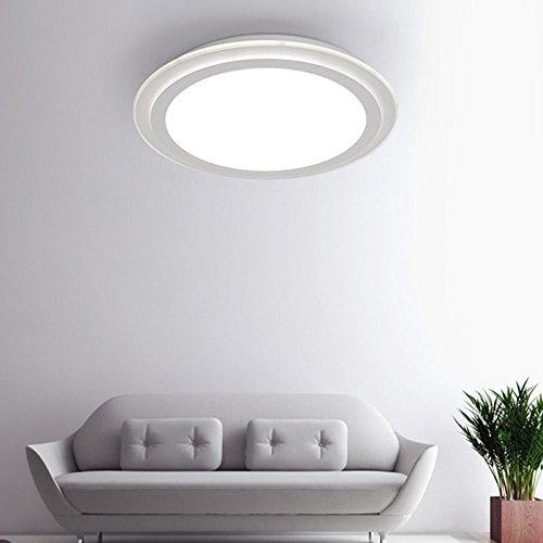 Shop 6 Deckenleuchte Runde Acryl Schlafzimmer Lampe Super Thin Led Deckenleuchte Wohnzimmer Cafe Lampe Dekoration Beleuchtung 520 * 65 Mm Nicht Polar Dimmen