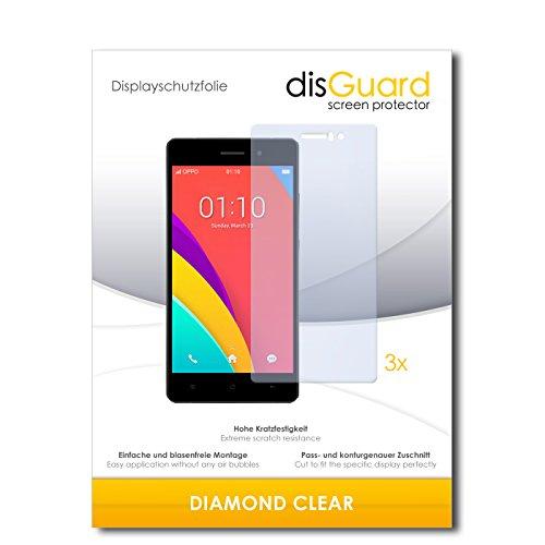3 x disGuard® Schutzfolie Oppo R5s Bildschirmschutz Folie