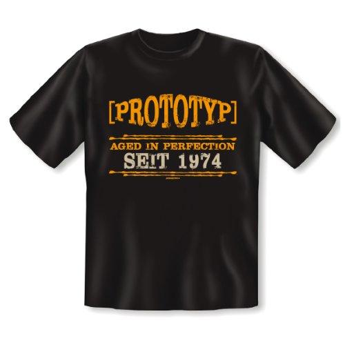 geiles Geburtstag Fun T-Shirt: Motiv: Prototyp seit 1974 40 Jahre lustiges witziges Funshirt Shirt Geschenk Herren Birthday Schwarz