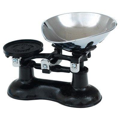 Victor - Báscula de cocina (hierro fundido, con pala cromada), color negro