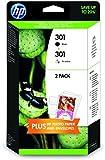 HP J3M81AE 301 Ink Cartridges - Black/Tri-Colour, Pack of 2