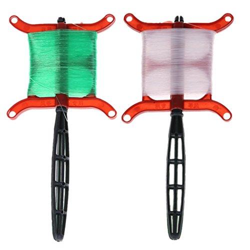 ECMQS Stabile 50M Flying Kite Line Polyester Line Zubehör für Flugzubehör, 1 Satz zufällige Farbe