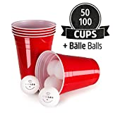 Vivaloo - Gobelets Rouges (x50) - Beer Pong Party Cups Americain - Fête, Vaisselle Jetable - 473ml