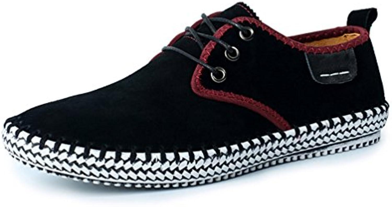 Mens Genuine Wildleder Schuhe Freizeit Flach Frühling Formell Casual Dress Flat Oxford Schuhe