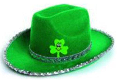 auen St. Patricks Day Green Cowboy Hut Kopfbedeckung Kost�m Hut Kost�m Einheitsgr��e (Fits EU 36-42) (Grüne Cowboy-hut)