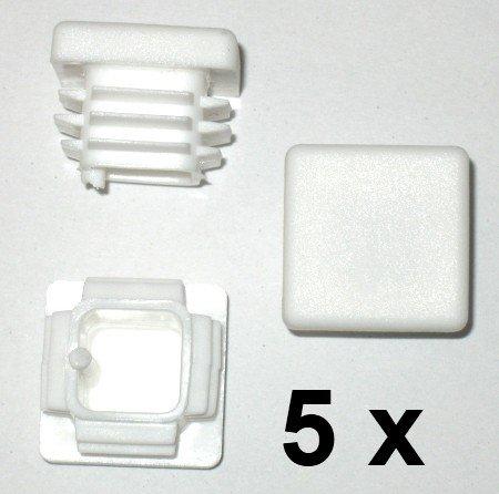 5 x Bouchon à lamelles carré rohrstopfen 22 x 22 mm (extérieur) Bouchon Blanc