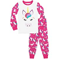 Harry Bear Girls Pyjamas Rainbow Glitter Unicorn Snuggle Fit