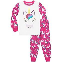 Harry Bear Pijamas de Manga Larga para niñas Unicornio Ajuste Ceñido 10-11 Años